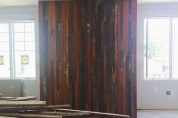 Future Reclaimed Wood Fireplace in the Spirit Suite