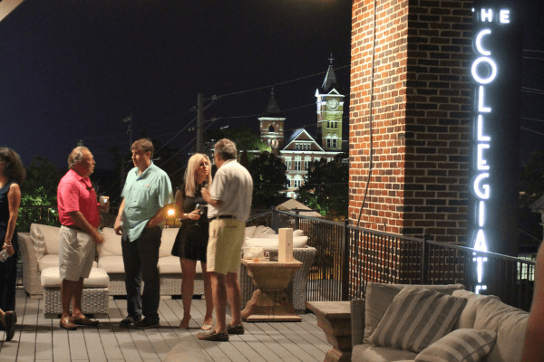 parents on the rooftop