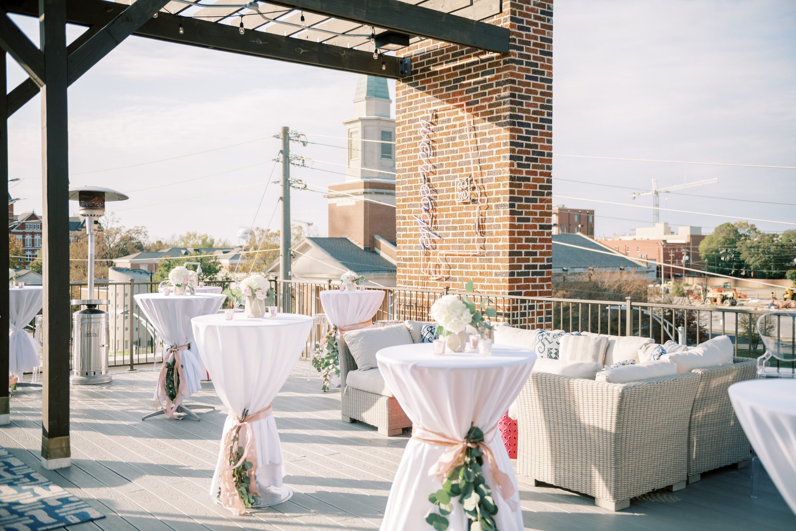 the porch at the Collegiate Hotel is one of the many unique event venues in Auburn AL